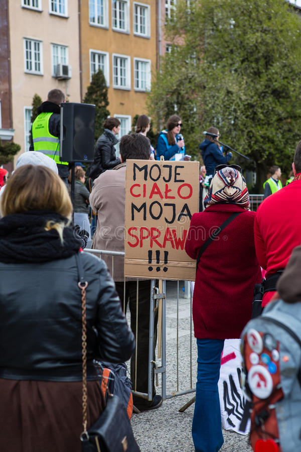 Free Protest Against Anti-abortion Law In Poland, Gdansk Stock Photos - 70407173