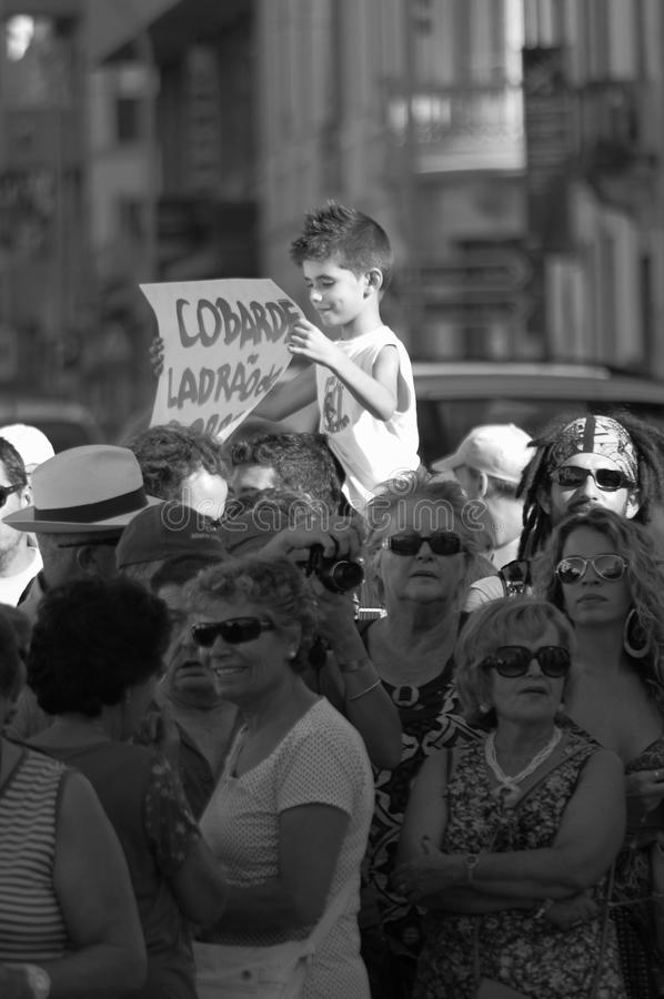 Download Protest Against Austerity - Loule Editorial Stock Photo - Image: 26779598