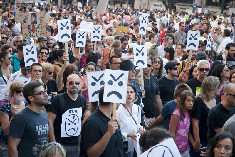 Download Protest Against Government Cuts, Porto Editorial Photo - Image: 26655541