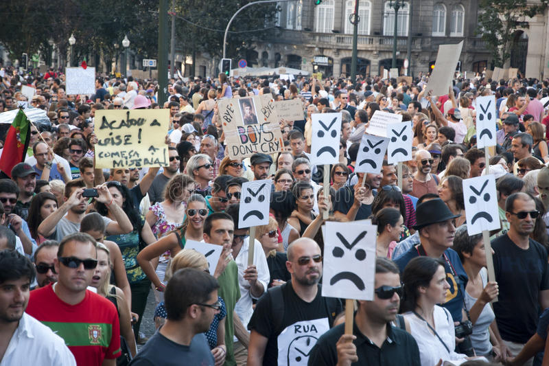 Download Protest Against Government Cuts, Porto Editorial Image - Image: 26655790