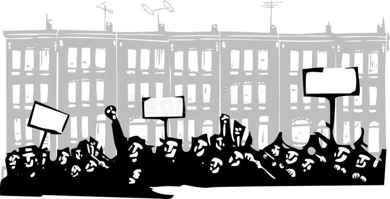 Protest Baltimore stock illustratie