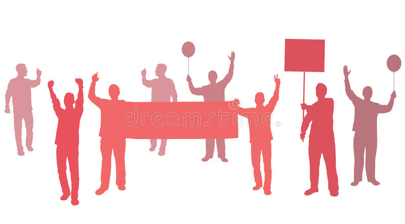 Download Protest With Banners For Your Text Stock Photo - Image: 21315610