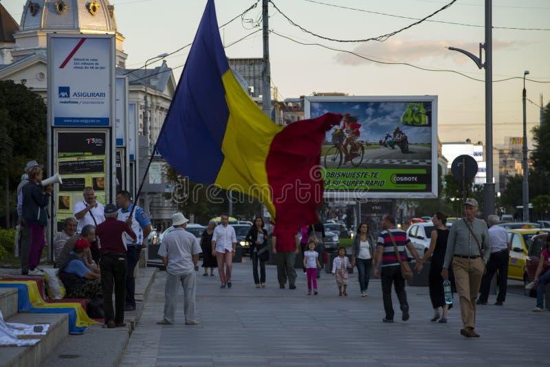 Protest in Boekarest tegen goudwinning royalty-vrije stock afbeeldingen