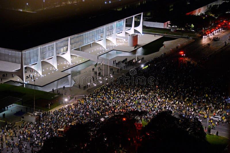 Protest in Brasilia - Brazilië royalty-vrije stock afbeelding