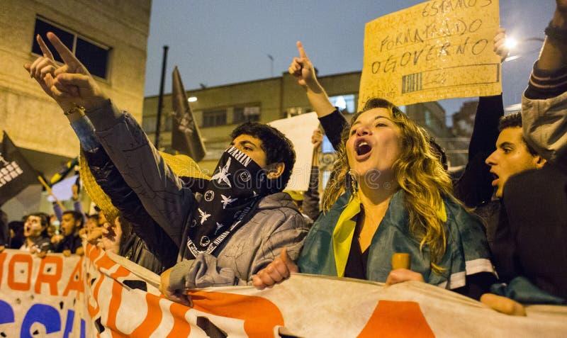Protest in Brasilien stockfoto