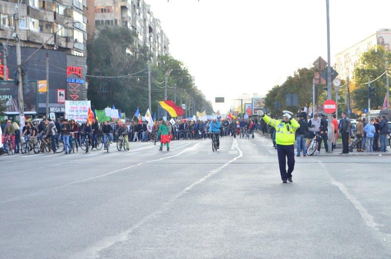 Protest in Bukarest stockfotografie