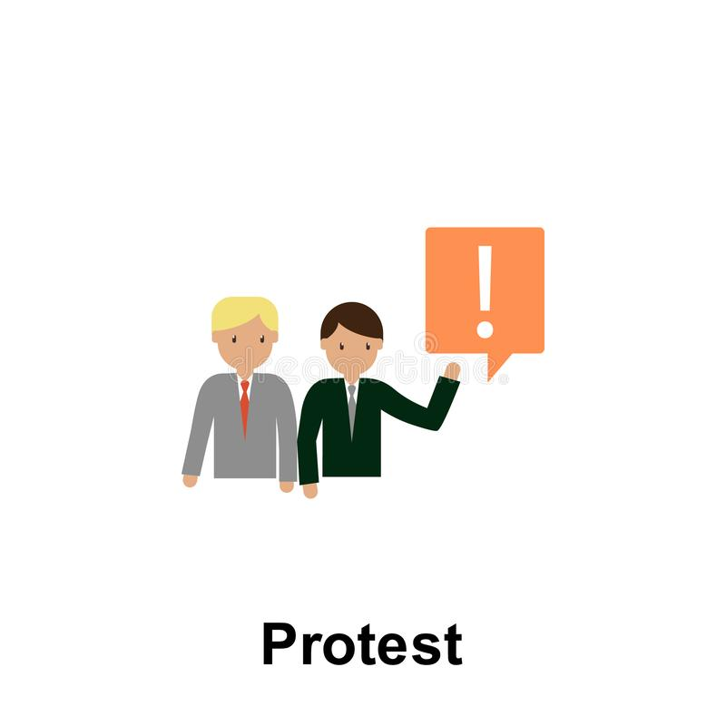 Protest color icon. Element of business illustration. Premium quality graphic design icon. Signs and symbols collection icon for royalty free illustration