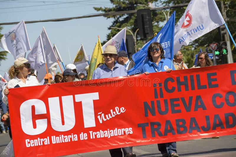 Protest days in Chile November 2019 royalty free stock image