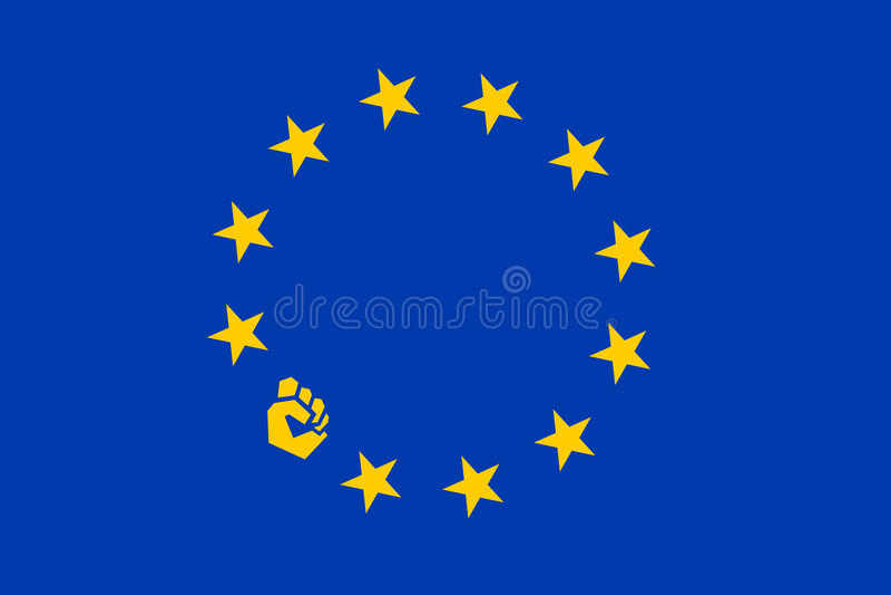 Protest in der Europäischen Gemeinschaft vektor abbildung