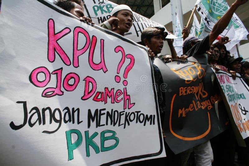 Protest der nationalen Partei der Auferstehung stockfoto