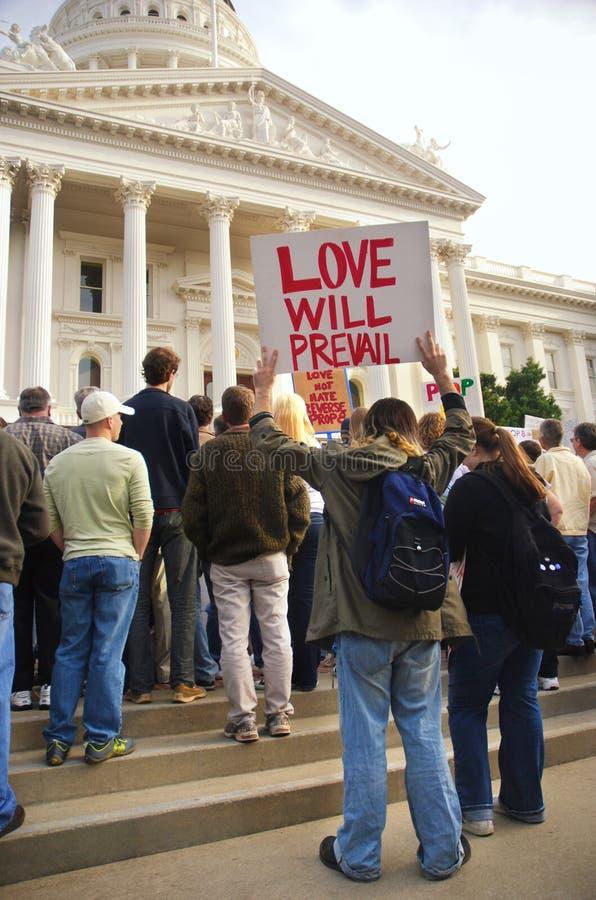 Protest der Stütze-8 lizenzfreie stockfotos