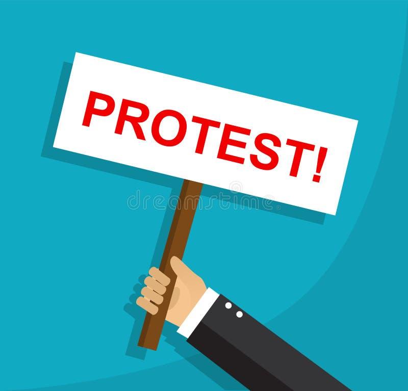 Protest en meningsverschil van een werknemer stock illustratie