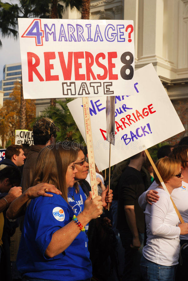 protest för 8 stötta arkivbild
