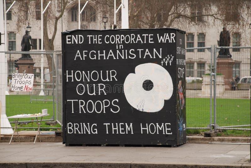 protest för lägerlondon fred arkivfoton