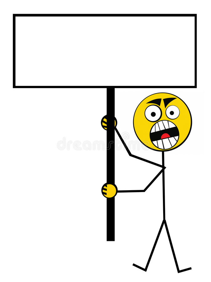 Download Protest guy stock illustration. Image of board, advertisement - 5899331