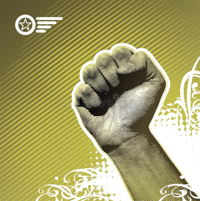 Protest hand vector illustration