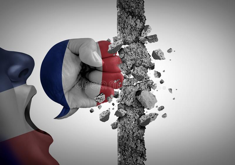Protest i Frankrike vektor illustrationer