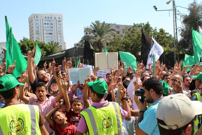 Protest i gaza royaltyfria foton
