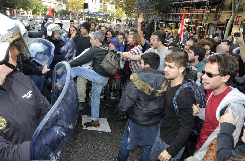 Protest i Spanien 077 royaltyfri foto