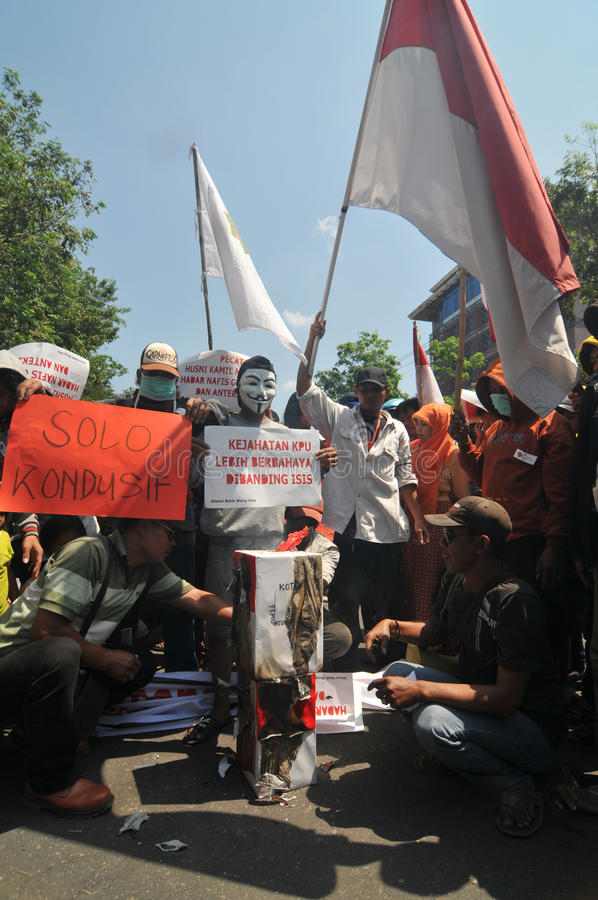 The Protest of Indonesia Election stock photo