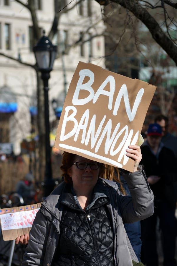 Protest maart royalty-vrije stock fotografie