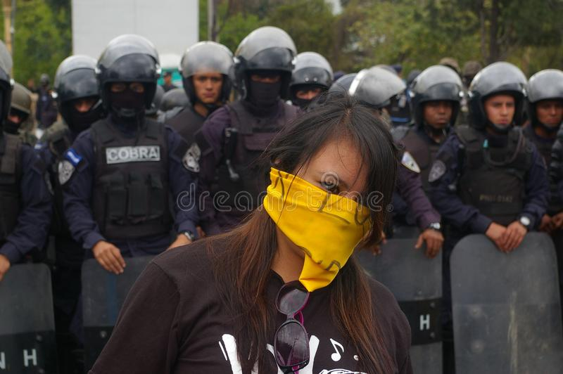 Protest March Against Reelection of Juan Orlando Hernandez Honduras 21 January 2018 22 stock images