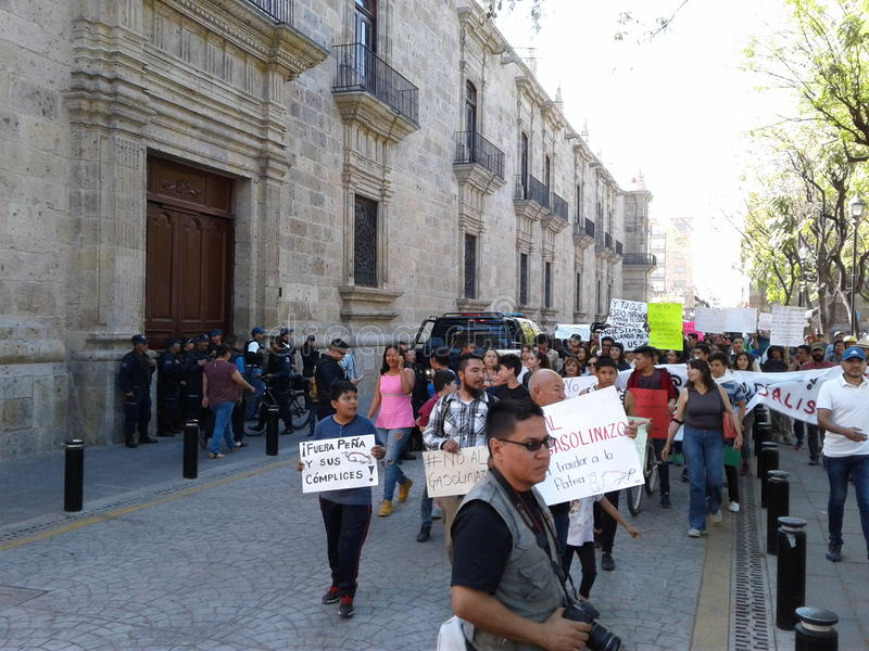 Protest March in Mexico royalty free stock photo