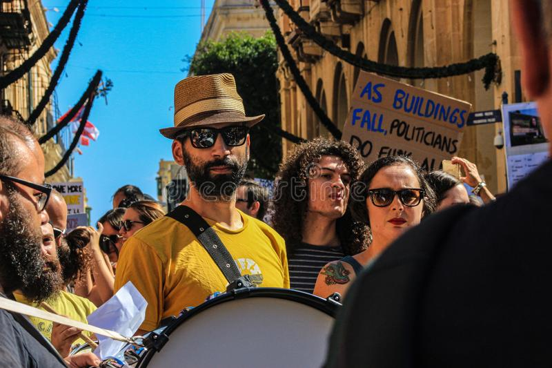 The Enough is enough protest Valletta, Malta. 7th Seprember 2019. stock photos