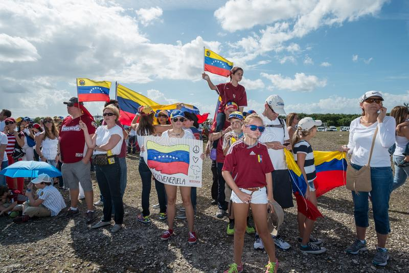 Protest PAS- Venezuela stockfotografie