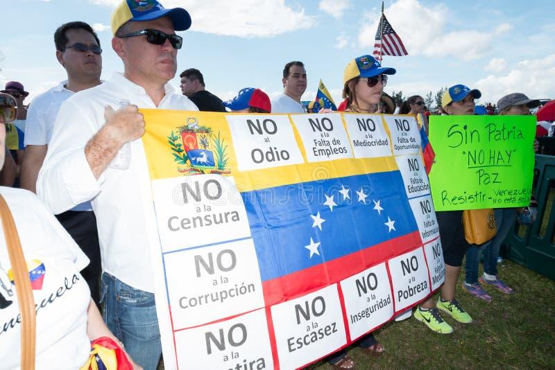 Protest PAS- Venezuela lizenzfreie stockbilder
