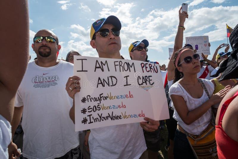 Protest PAS- Venezuela stockfoto