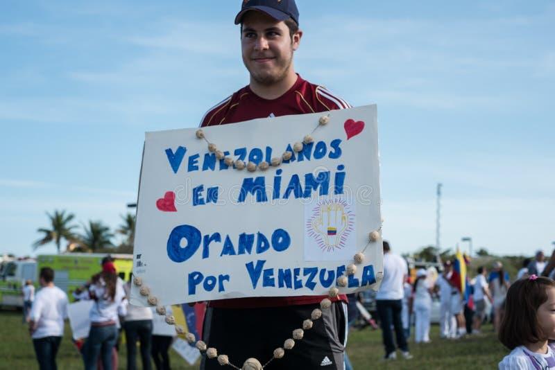 Protest PAS- Venezuela lizenzfreies stockbild