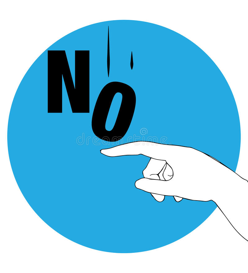 Protest Poster for No. AI 10 supported royalty free illustration