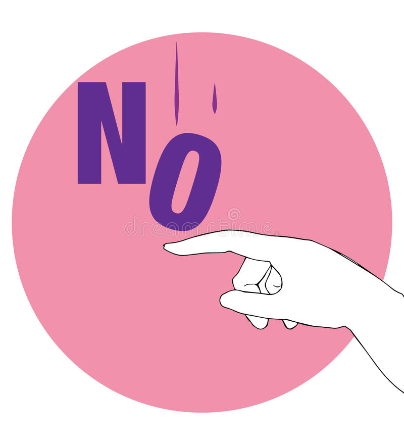 Protest Poster for No. AI 10 supported stock illustration