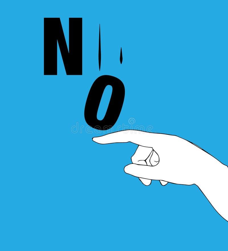 Protest Poster for No. Illustration concept royalty free illustration