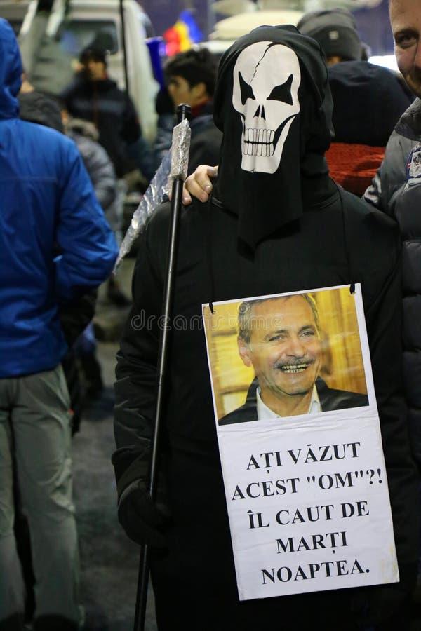 Protest przeciw korupci i Rumuńskiemu rzędowi zdjęcie royalty free