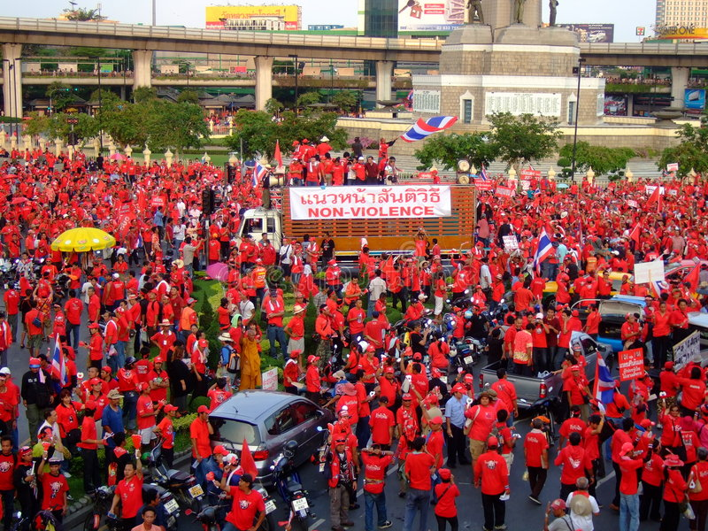 Download Protest Rally In Thailand Victory Monument Editorial Photo - Image: 8896811