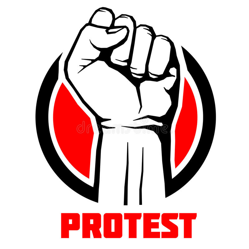 Protest, Rebel Vector Revolution Art Poster, Background