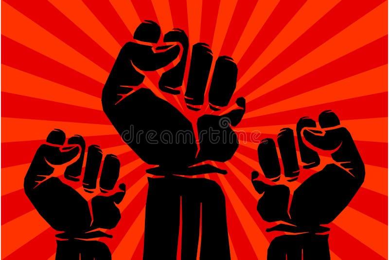 Protest rebellisk affisch för vektorrevolutionkonst royaltyfri illustrationer
