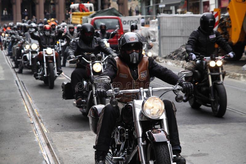 Protest van motorfietsclubs Oslo royalty-vrije stock foto