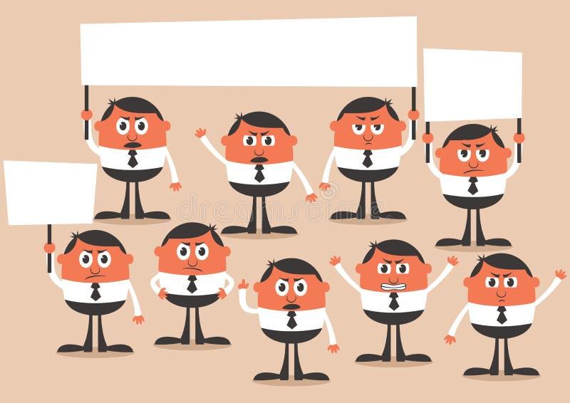 Protesta ilustración del vector