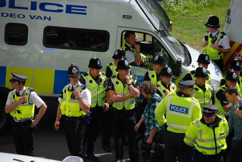 Protesta 28/08/10 di Bradford EDL immagine stock