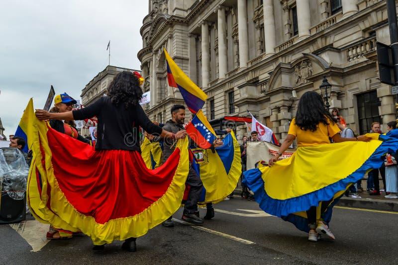 Protesta anti del triunfo - Londres foto de archivo libre de regalías