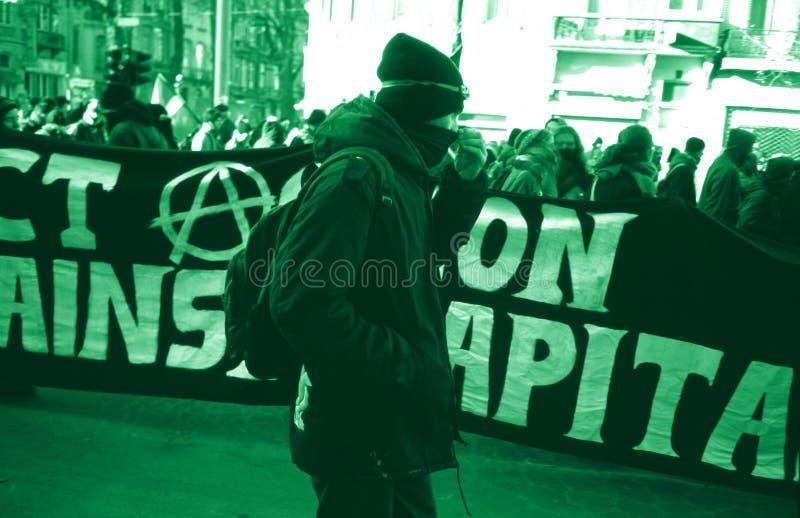 Protesta Anti-globalist foto de archivo libre de regalías