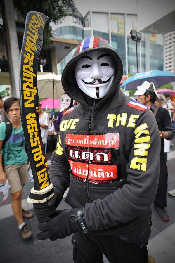 Protesta antigovernativa a Bangkok fotografia stock
