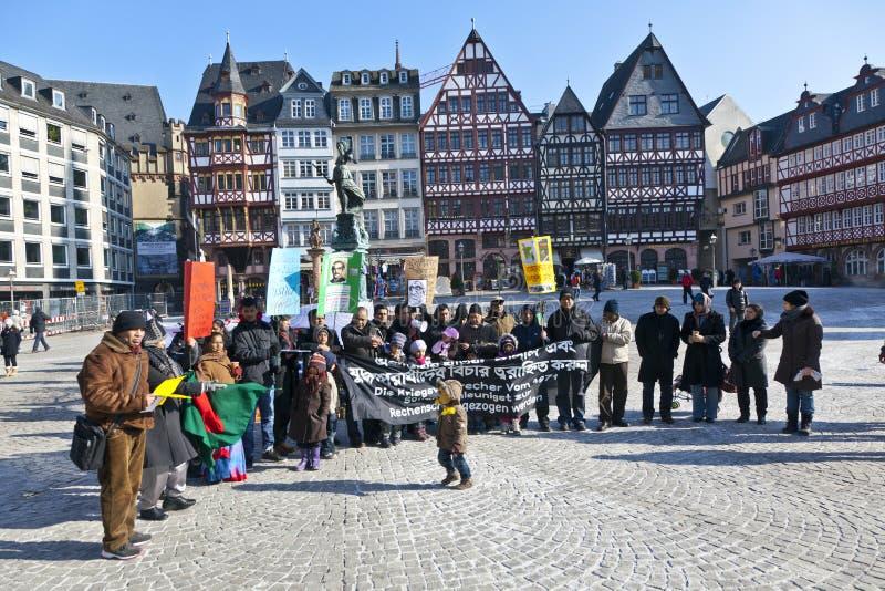 Protesta bengalí de la gente contra guerra foto de archivo libre de regalías