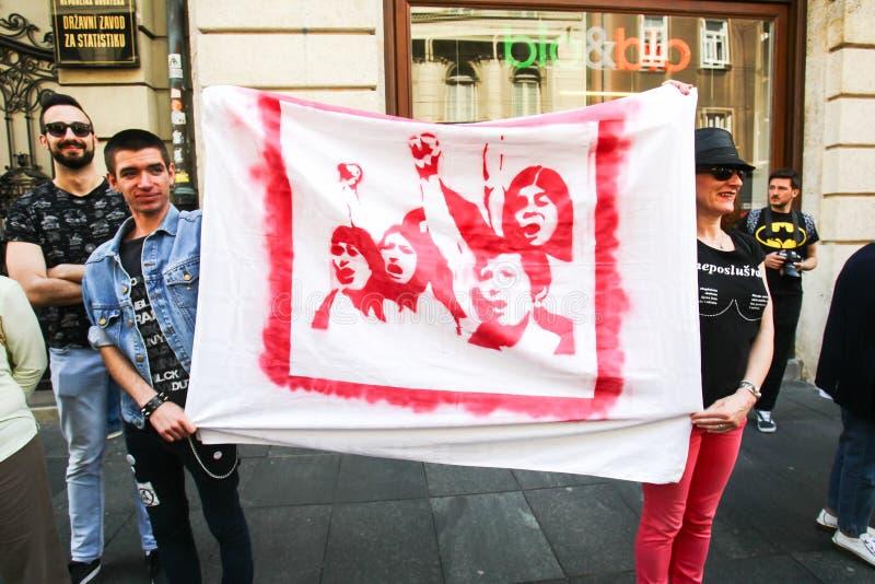 Protesta contra fascismo foto de archivo