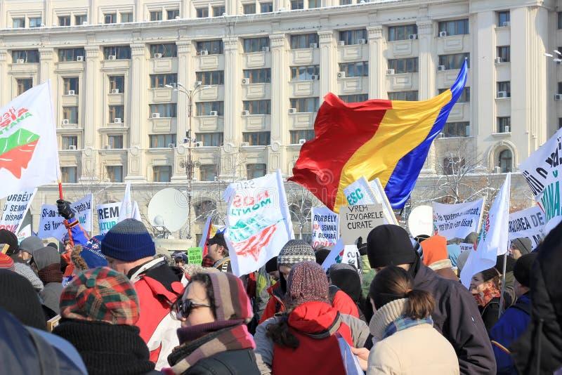 Protesta contra la minería aurífera del cianuro imágenes de archivo libres de regalías