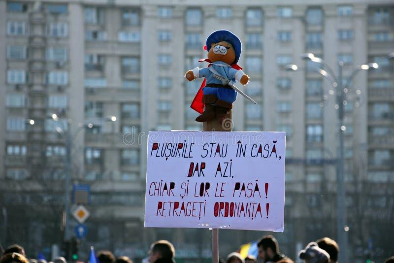 Protesta contro corruzione - messaggi divertenti fotografia stock
