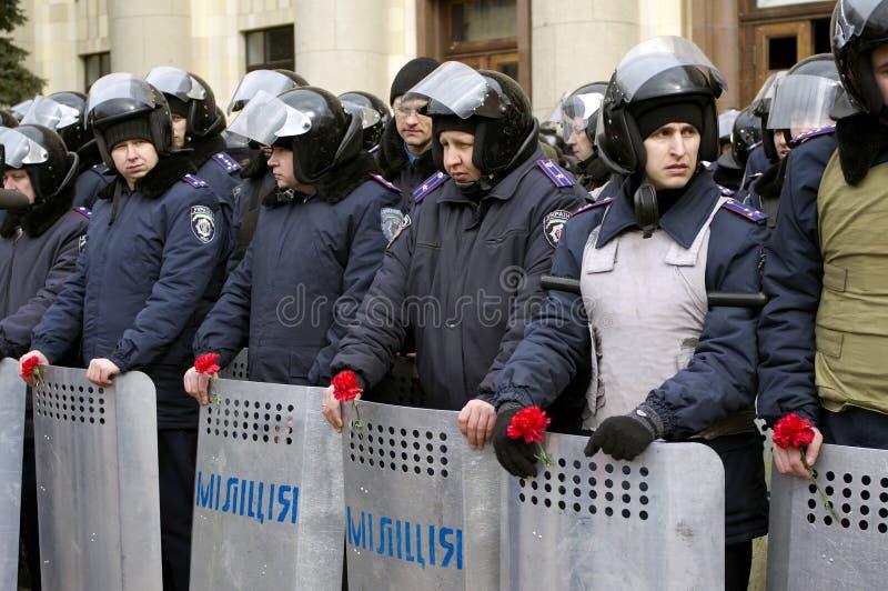 Protesta de ?ntiauthority en Járkov, Ucrania imagenes de archivo
